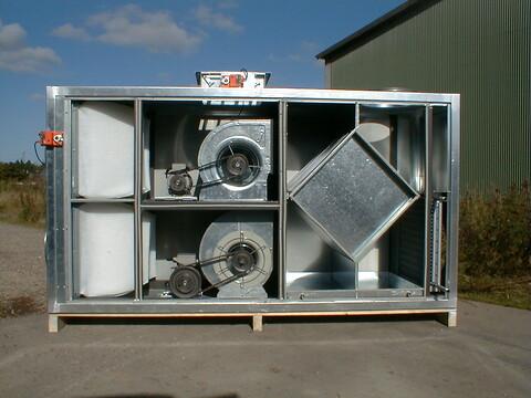 Krydsvekslere Ventilationsaggregater efter kundens ønsker