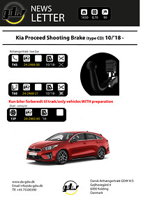 Kia Proceed Shooting Brake Dragkrok fron GDW