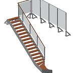 Værn og trappe i penthouse 1