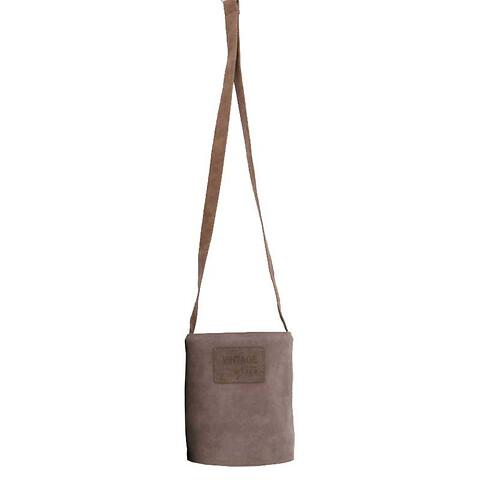 Pottehænger i læder, Ø13,5cm, grå