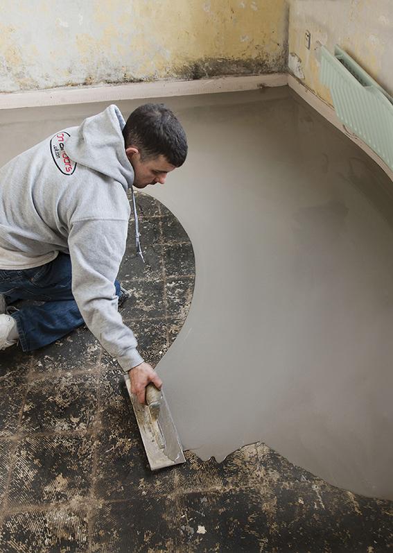 Spartel gulve uden rengøring og primning - ARDEX K 60