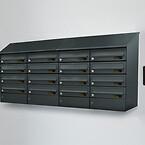 Digital postkasseanlæg m. digitale OLED navne-display / navneskilte