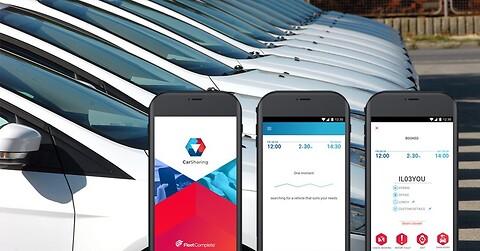 Fleet Complete Carsharing: GPS-løsning med booking app til delebiler - Fleet Complete Carsharing til delebiler