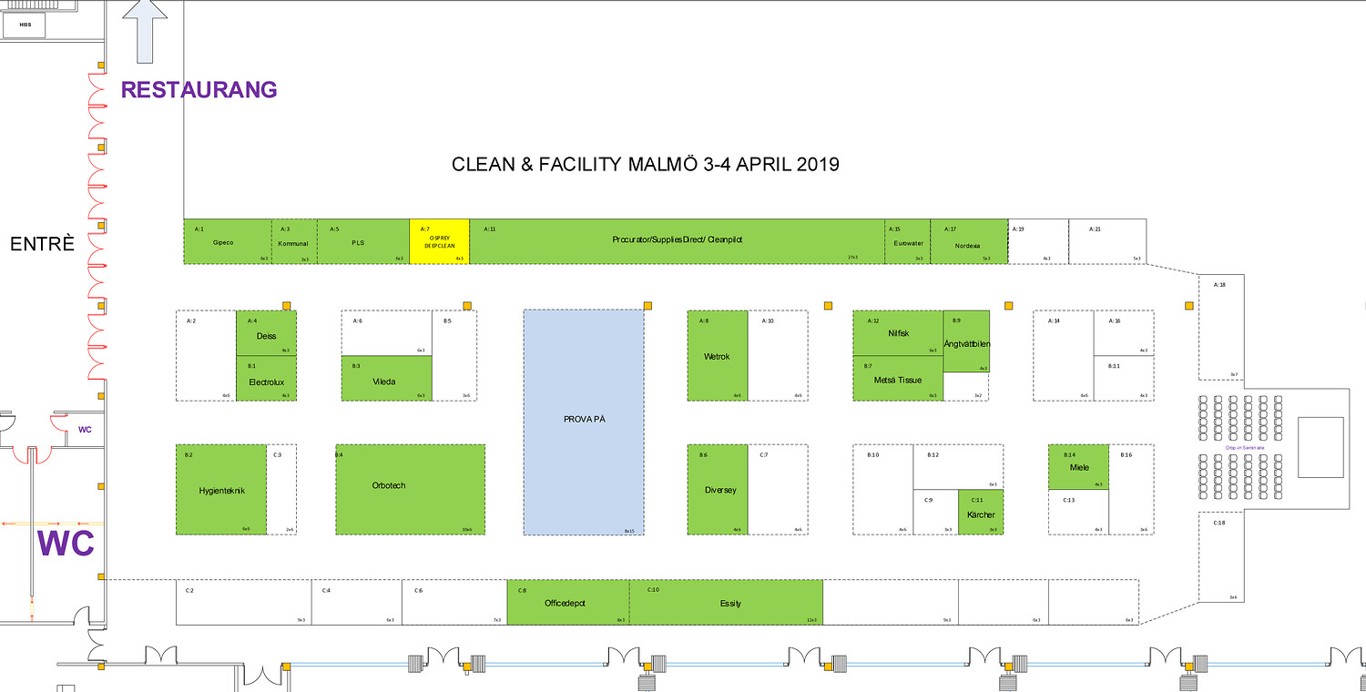 Clean & Facility  hall overview