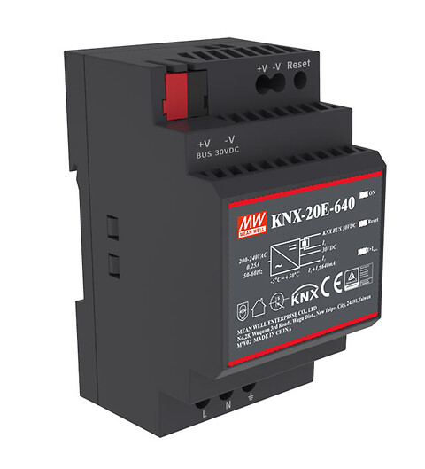 Strømforsyning KNX-20E-640 -- Power Technic - KNX-20E fra MEAN WELL. Forhandler er Power Technic. Ring 70 208 210