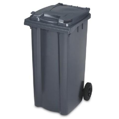 Affaldscontainer 2-hjulede 360 l - antracitgrå
