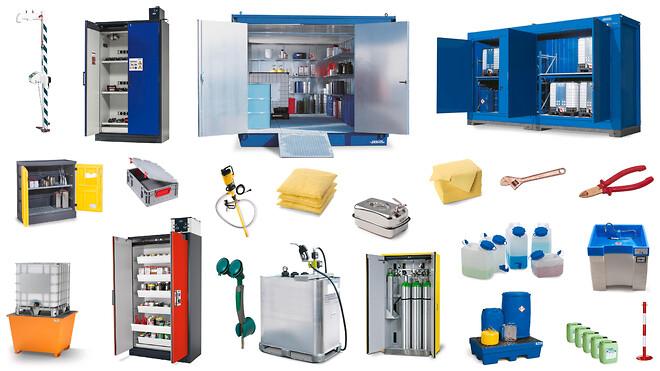 Udvalg af DENIOS' produkter