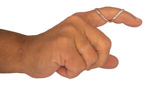 Silversplint finger ortose i sølv optimerer håndens gribefunktion