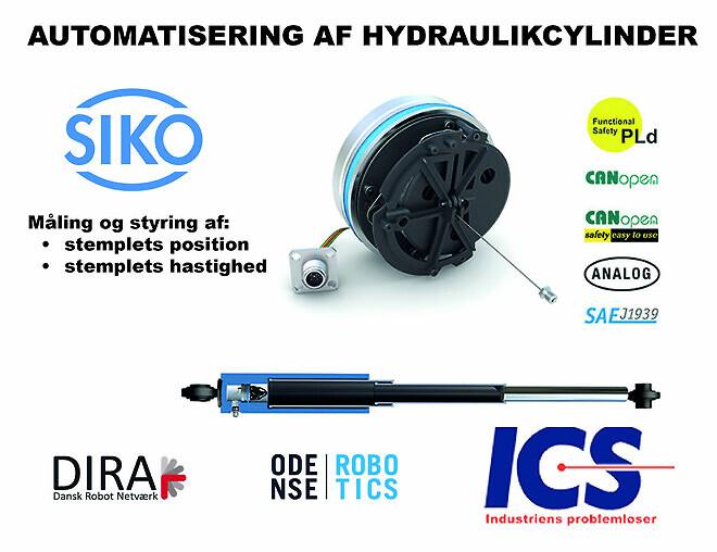 siko ics encoder automation hydraulikcylinder styring sikkerhed