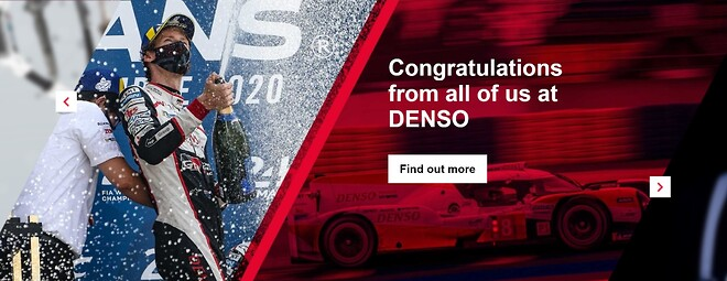 DENSO sponsor for Toyota Gazoo racing