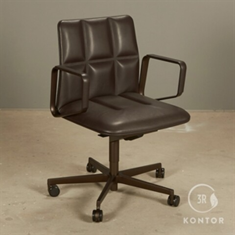 Walter knoll leadchair. brun læder og lav ryg.