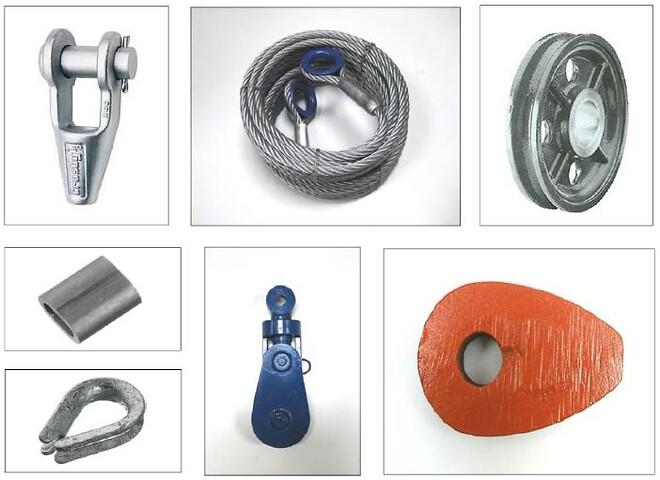 Wirer og andet tilbehør fra Danløft A/S