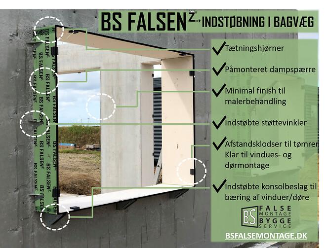 pladefals, pladefalse, betonfals, bs false, indstøbning, beton