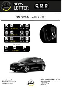 Ford Focus IV\nskjult aftageligt anhængertræk fra Dansk anhængertræk GDW