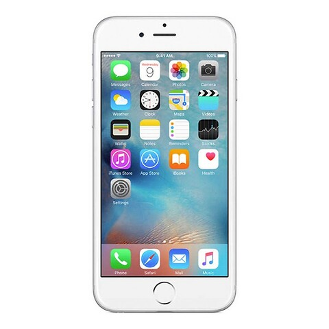 Apple iphone 6S 32GB (sølv) - grade a - mobiltelefon