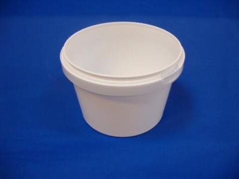 Plastbøtte 5051 - 1150 ml. - hvid