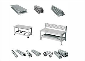 aluminiumprofiler\narbetsbord\narbetsbänk \nt-not profil\nT spårsplatta\nstabila profiler\nmechanical engineering\n