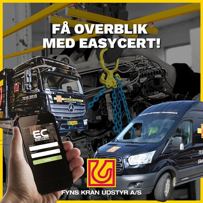 Få overblik med EasyCert fra Fyns Kran Udstyr
