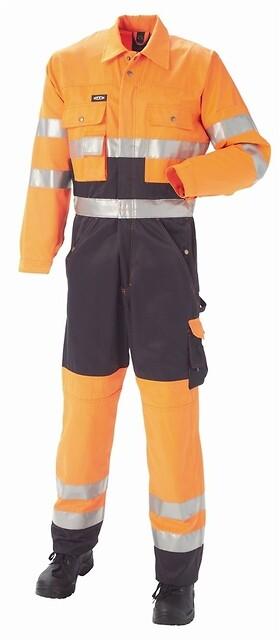 Kedeldragt EN20471 kl. 3, orange/marine - 11104
