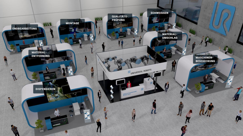 Universal Robots ordnade en virtuell mässa i Tyskland i våras. Erfarenheterna därifrån tar man nu med sig till WeAreCOBOTS – och skalar upp rejält.