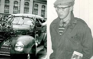 Här är bilen som Harald Hagen reparerade under två år och sedan sålde till företaget Löwener Mohn där den användes av vd:n.
