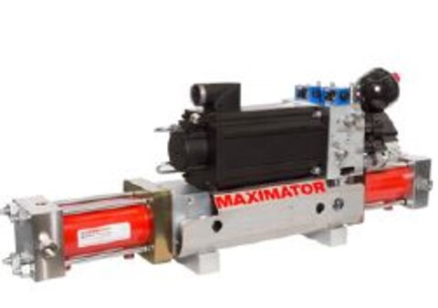 Hydraulisk Booster / Electro Hydraulic Booster fra Maximator - Electro, Hydraulic, Booster, gass pumpe, H2, atex, double acting, pressure, trykk, generation,