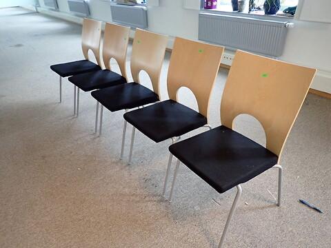 6 stk. konferencestole kinnarps yin sort Leder IDAG