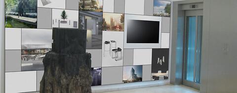 A-Wall - revolutionerende designvæg til kommunikation af skiftende nyheder eller budskaber