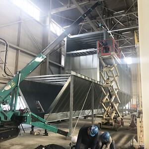 Installation af filteranlæg til cellulosefibre