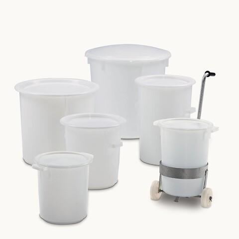Kraftige plastbeholdere - egnet til direkte kontakt med fødevare