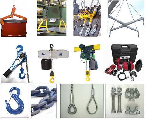 Find alt dit løftegrej hos Danløft  - Løftegrej, gribeklør, wire, taljer, kroge og meget mere.