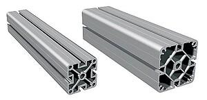 Stativprofil PS 50 / PS 80, i natur eloxerad aluminium för snabb och enkel uppbyggnad