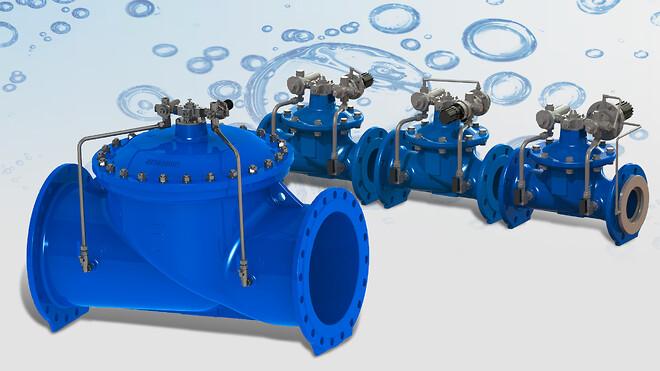 AVK trykreducerende ventiler, trykholde-/trykaflastningsventiler og konstant flow-reguleringsventiler