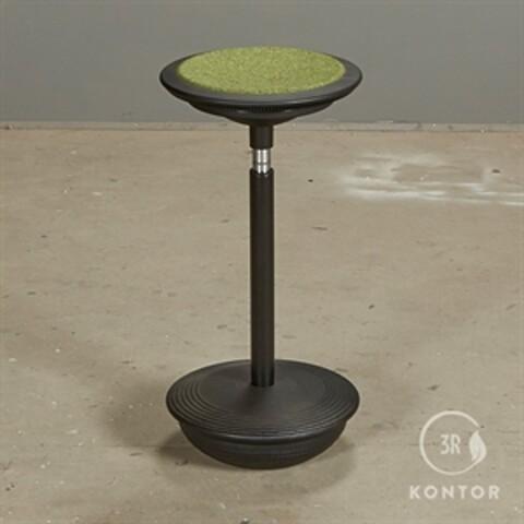 Wilkhahn stitz 2 ergonomisk stol. sort med grønt filt sæde.