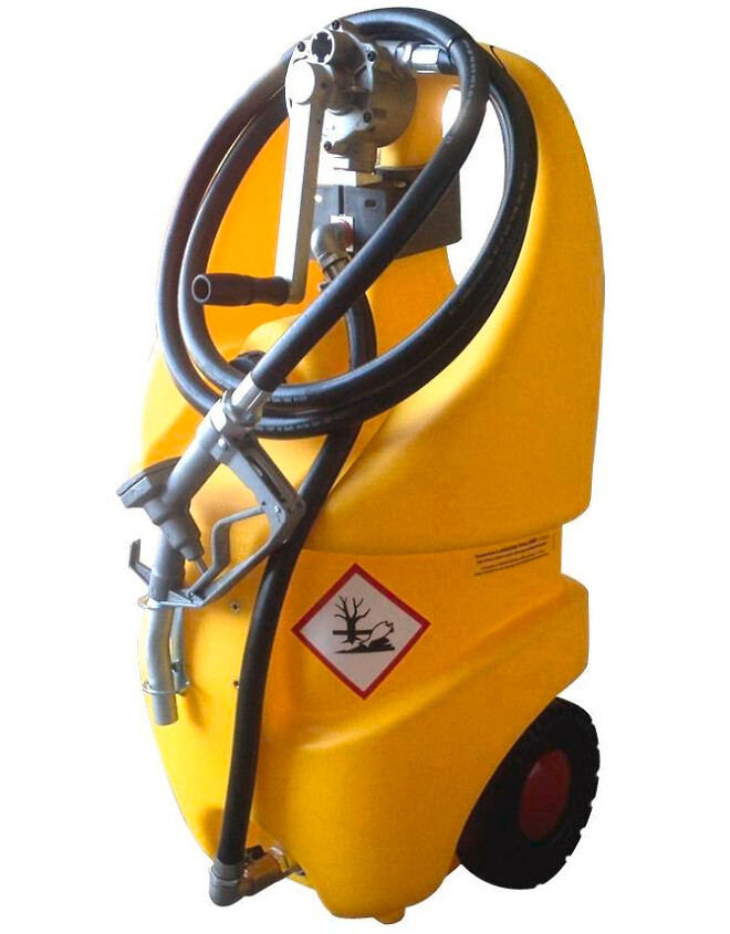 Mobilt tankanlæg med pumpe