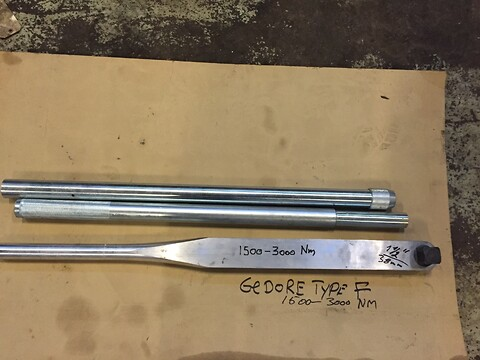 Momentnøgle Torque Tool Gedora F 1500 - 3000 NM