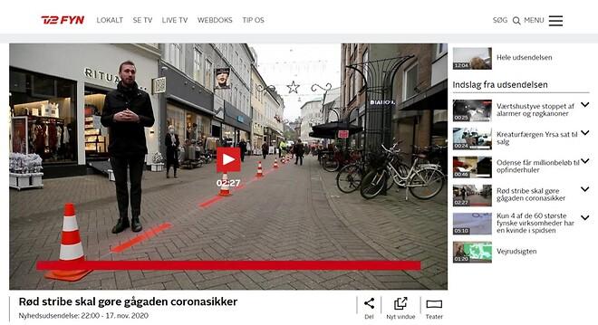 Eurostar maler røde striber i Odense