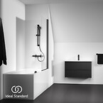 Ceratherm T25, Idealrain M1, Tesi møbel, IOM tilbehør, matsort, Silk Black Collection