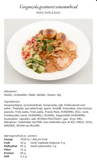 Näringsberäkning - livsmedel