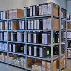 DCC har sit lager af færdigvarer på lagerreoler fra Hans Schourup