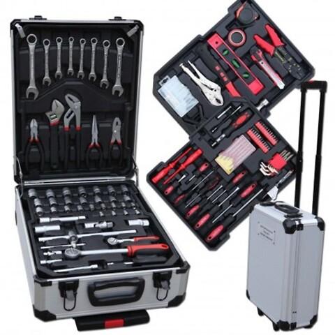 4 stk. trolley med 207 dele værktøj(ubrugt)