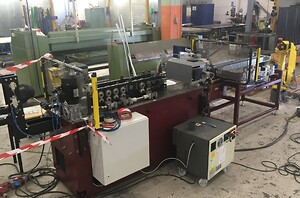 Maskinen under testning.