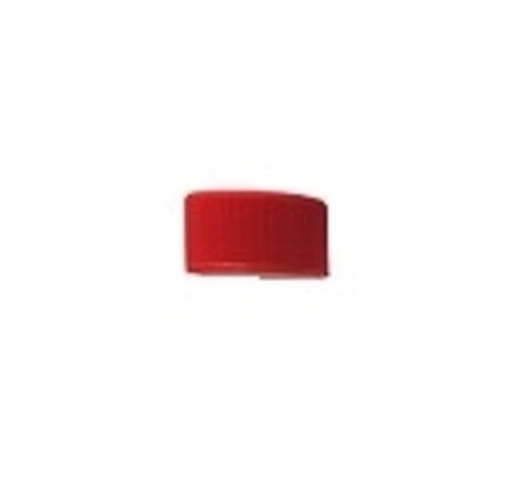 Kapsel m/ hals Ø32 mm - rød