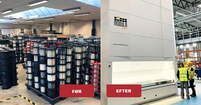 Spar værdifulde kvadratmeter når du samler lageret i lagerautomater