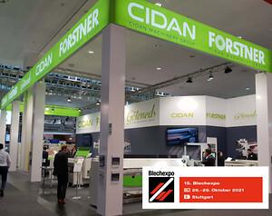 CIDAN er på Blechexpo 2021 fra 26.-29. Oktober i Stuttgart