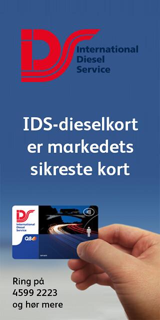 IDS-dieselkort til lastbiler er 100 % sikkert