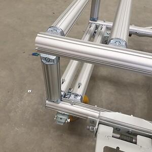 vagn, hjul, aluminium, handtag, produktion, lean, effektivitet, pall, lager, inredning, materialhantering,