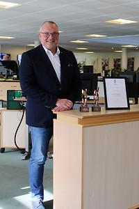 Claus Svensk Jessen modtager Succesvirksomhed 2020 på vegne af alle i KS Gruppen