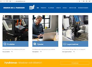 MaskinFransson ny hemsida