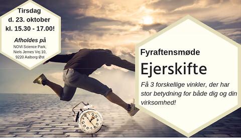 Fyraftensmøde - Ejerskifte tirsdag den 23. oktober 2018 kl. 15.30-17.00 med Nordjysk FødevareErhverv